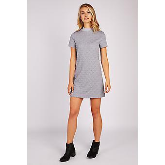 Louche Lynda Spot Jacquard Jersey Dress Grey