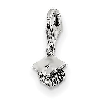 925 sterling sølv poleret Vendbar antik finish fancy hummer lukning refleksioner graduering Cap click-on perle ch