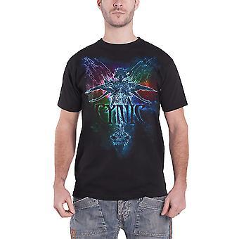 Cynic T Shirt Rainbow band logo new Official Mens Black