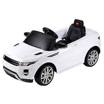 Range Rover Evoque Licensed 12V Battery Ride On Electric Car with remote control -White