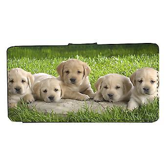 Samsung S8 Cachorros perro cartera caso con la cáscara de la imagen