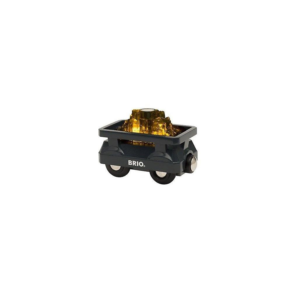 Brio BRIO 33896 Wooden Railway  Light Up Gold Wagon