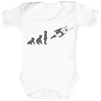 Baby Evolution To A Super Man - Baby Bodysuit