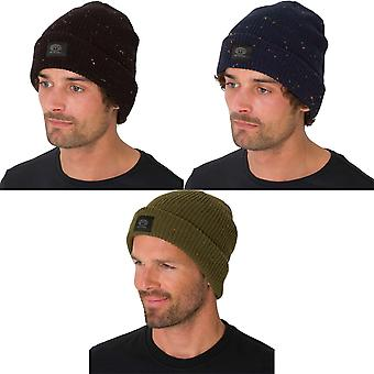 Animal Allex Mens Winter Warm Woolly Knitted Chunky Knit Beanie Hat