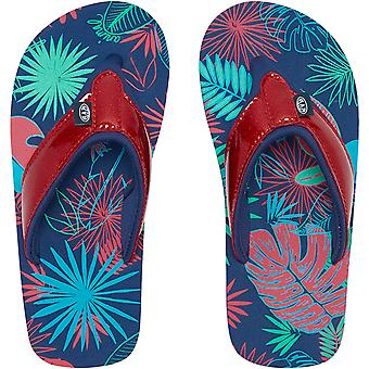 Animal Girls Kids Swish Glitz Slip On Pool Beach Summer Sandals Flip Flops