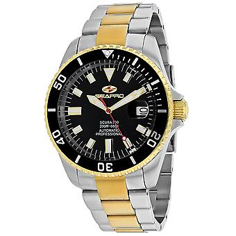 Seapro Men-apos;s Scuba 200 Black Dial Watch - SP4326