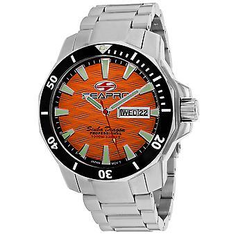 Seapro Men's Scuba Dragon Diver Limited Edition 1000 Meters Orange Dial Watch - SP8314S