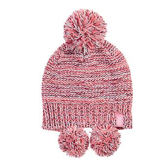 Animal Betti Bobble Hat in Peony Pink