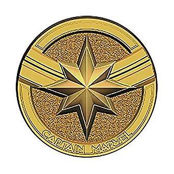Pin - Marvel - Captain Marvel Logo (Round) Pewter Lapel New 69066