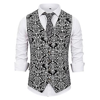 Muži ' s móda nádherná pozlacená vesta V krku