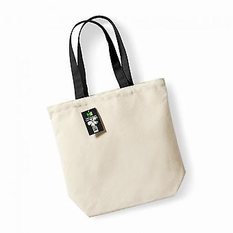 Westford Mill Plain Fair Trade Camden Shopper / Shopping Bag (13 Litres) (Pack of 2)
