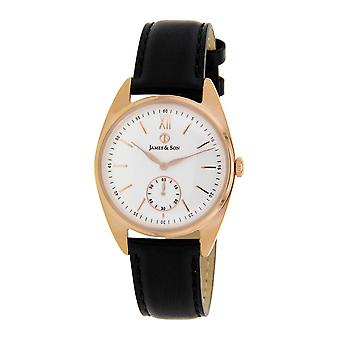 James And his JAS10091 801 - watch leather black man