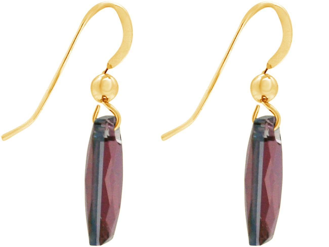 Gemshine Ohrringe SWAROVSKI ELEMENTS. 925 Silber oder vergoldet - Amethyst