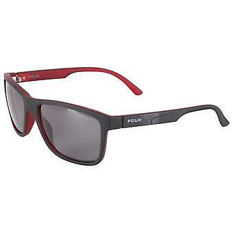 French Connection D Frame Wrap Sunglasses - Black/Red