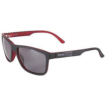 Französisch Verbindung D Rahmen Wrap Sonnenbrille - schwarz/rot