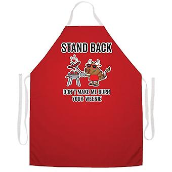 Stand Back Burn Weenie Schürze
