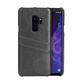 Para Samsung Galaxy S9 Grey Deluxe Leather Back Wallet Case, Caso à prova de choque