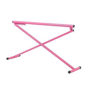 Pink Madison Ballet Barre Metal Folding Training Free Standing Height Adjustable