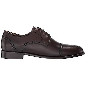MARC JOSEPH NEW YORK Mens Leather Kensigton 2 Oxford Lace-up Wingtip Dress Shoe