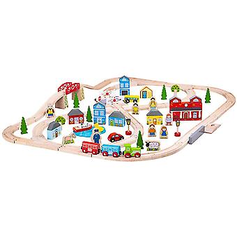 Bigjigs Rail Town and Country Train Set - 101 Piezas