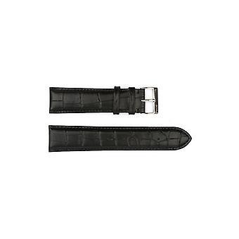 Authentic hugo boss watch strap black crocodile grain 22mm hb1181142348