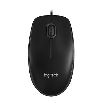 Logitech B100 Optical Usb Mouse 800 Dpi For Pc Laptop Tux Full Size