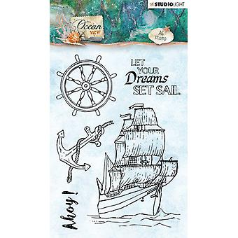 Studio Light A6 Clear Stamp Ocean View Number 366