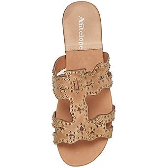 Antelope Women-apos;s 126 Leather Studded Slide Sandals