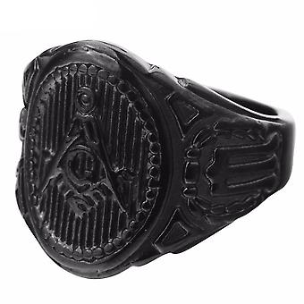 Plated masonic ring
