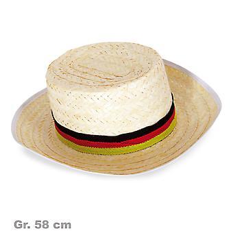 Straw Hat fan fan Hat black red gold Germany Germany