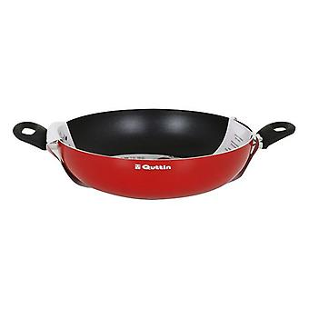 Deep Pan with Handles Quttin Infinity Red (ø 32 cm)