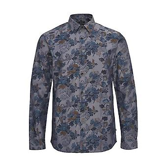 Estate Blue Robo Chambray Floral Print Shirt