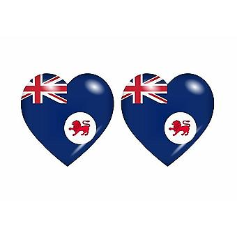 2x Sticker sticker flag heart to tasmanian aqtralie