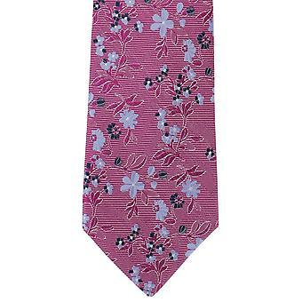 Michelsons London Frühling Blumen Seide Krawatte - Pink