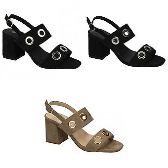 Anne Michelle Womens/Ladies Mid Heel Eyelets 2 Strap Shoes