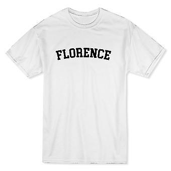 フィレンツェ市を示す誇りメンズ ホワイト t シャツ
