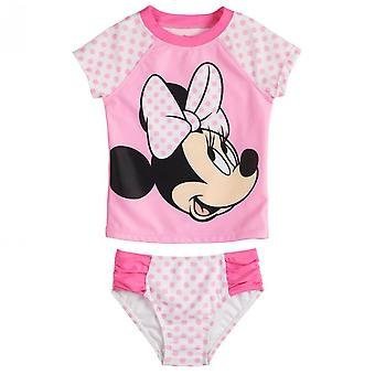 Disney Minnie Mouse Pink Polka Dots Toddler Tankini Set