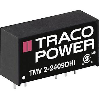 TracoPower TMV 2-1505SHI DC / DC محول (الطباعة) 15 V DC 5 V DC 400 mA 1 W No. من النواتج: 1 x