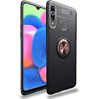 Mobile case with ring holder Samsung Galaxy A20s - black/rosé