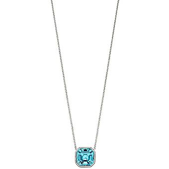 Elements Silver Imperial Cut Collier - Bleu argent/aquamarine
