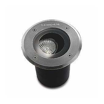 Gea Recessed Spotlight, Gu10, Stainless Steel 316 And Glass, Orientable