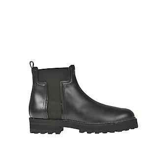 Tod's Ezgl027068 Kvinnor's svarta läderkängor