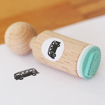 Campervan Round Rubber Stamp - VERY MINI - Craft / Scrapbooking / Stamping