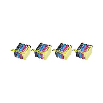RudyTwos החלפת 4x עבור Epson 18XL דייזי Set יחידת דיו שחור ציאן מגנטה & תואם צהוב עם ביטוי Home XP-102, XP-202, XP-205, XP-212, xp-215, xp-225, xp-30, xp-33, xp-302, xp-305, xp-3