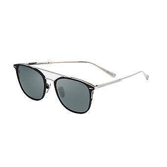 Chopard SCHC96M K07P Shiny Palladium/Polarised Smoke-Silver Mirror Sunglasses