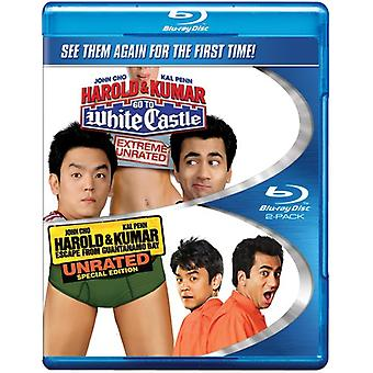 Harold & Kumar Go to White Castle/Escape From Guan [BLU-RAY] USA import