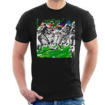 Lørdag aften Post American Football Sketch Paul Calle Men's T-shirt