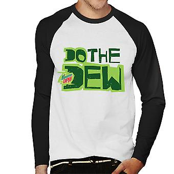 Mountain Dew Do The Dew Printed Style Men's Baseball Long Sleeved T-Shirt