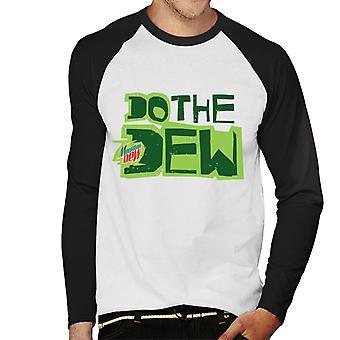 Mountain Dew tee Dew painettu tyyli miesten ' s baseball pitkähihainen T-paita