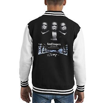 Original Stormtrooper GoodTroopers Mafia Parody For Dark Kid's Varsity Jacket